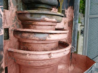 Kupfer Brunnen nachher