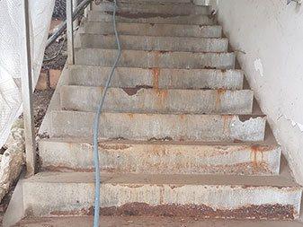Treppenanlage Domberg Freising vorher