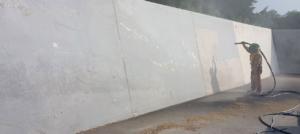Beton Wände Sandstrahlen