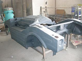 Porsche sandgestrahlt