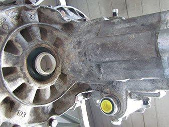 Motorteil verschmutzt vorher