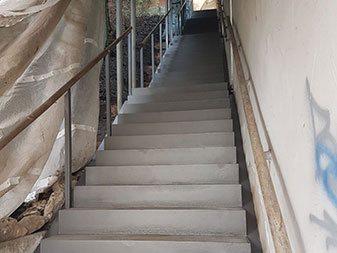 Treppenanlage Domberg Freising nachher